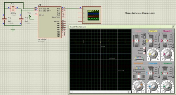PIC16F84A PWM schematic