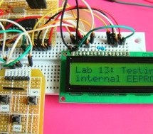 PIC16F84A internal EEPROM code and Proteus simulation