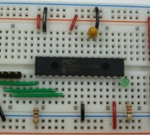 PIC16F84A interrupt based software UART code and Proteus simulation