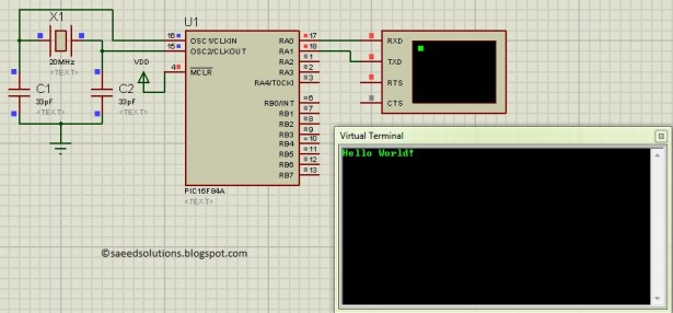 PIC16F84A software UART software