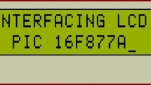 PIC16F877 LCD interfacing code (In 4bit mode) and Proteus simulation
