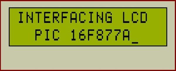 PIC16F877 LCD interfacing