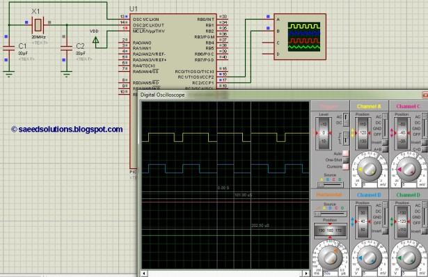 PIC16F877 PWM schematic