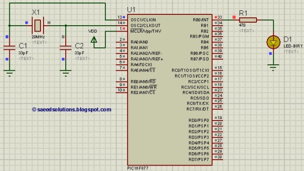 PIC16F877 internal EEPROM schematic
