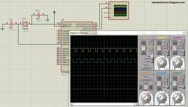 PIC18F452 PWM schematic