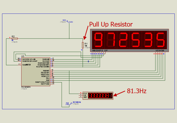 6 Digits LED 7-Segment Multiplexing schematic