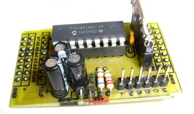 Compact PIC18F1320 Microcontroller Board