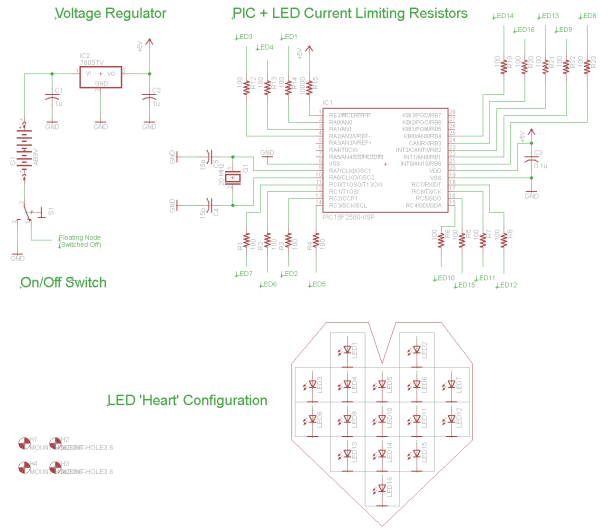 LED Heart PWM Fading schematic