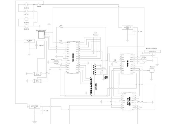 PIC16F876A Based Robot schematic