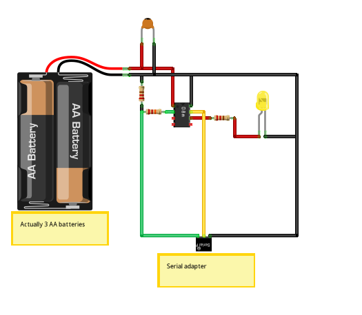 Programming a Picaxe 08m chip schematic