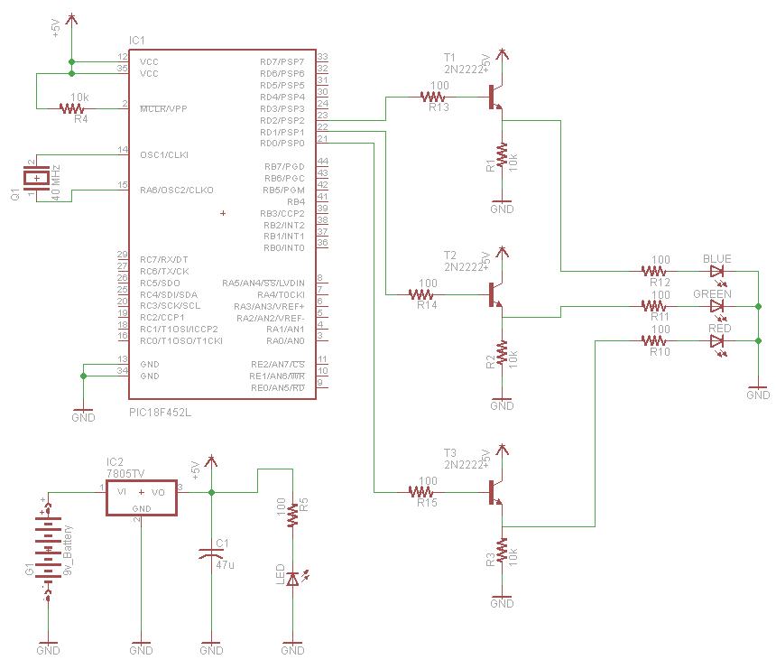 rgb led controller using pic18f452. Black Bedroom Furniture Sets. Home Design Ideas