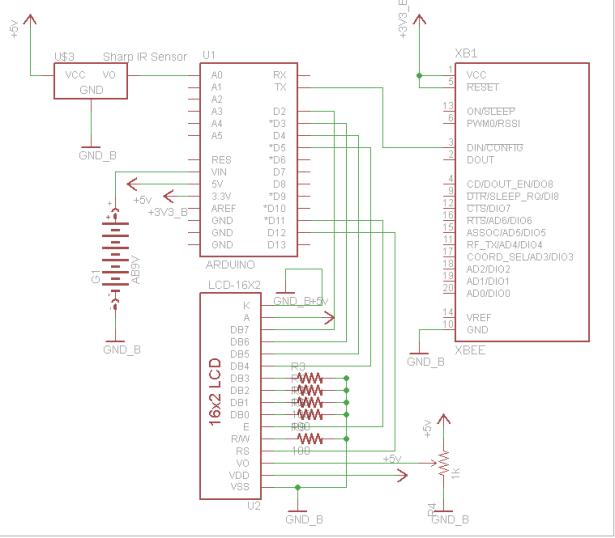 Wireless Sensor Motor Control schematic