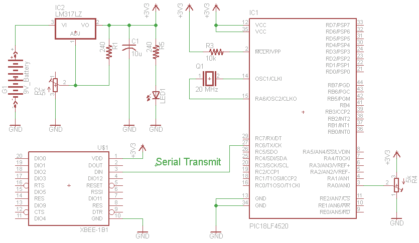 Xbee Wireless Servo Control schematic?x49121 xbee wireless servo control using pic18lf4520 arduino xbee wiring diagram at mifinder.co