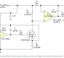 Convert 1 to 5V signal to 4- to 20-mA output