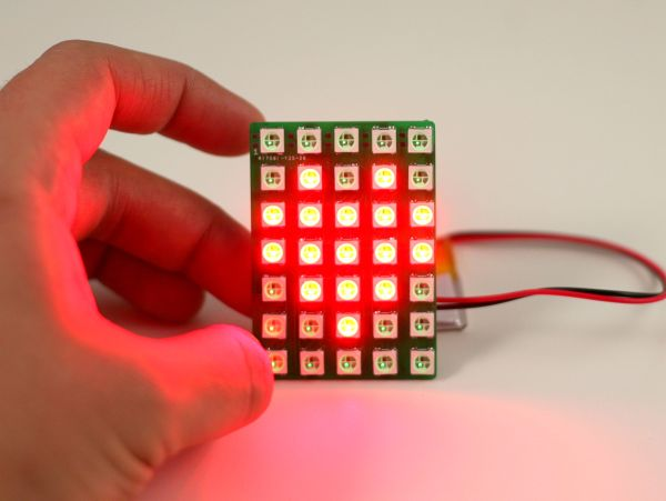 Mini chainable color LED matrix