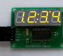 Serial 4-digit seven segment LED display