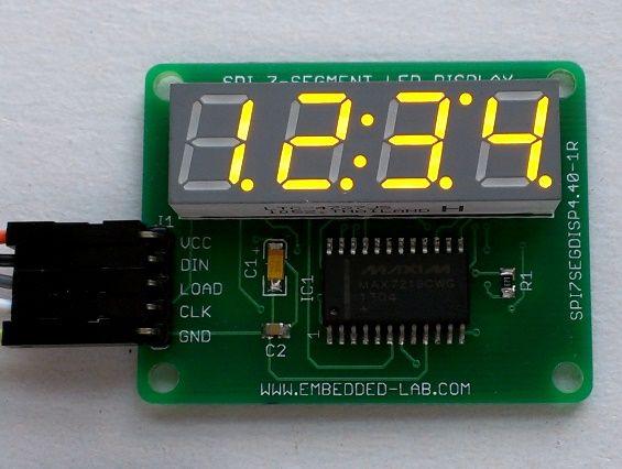 Serial 4-digit seven segment LED display