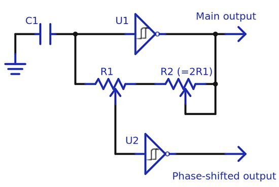 Add phases to simple RC oscillator