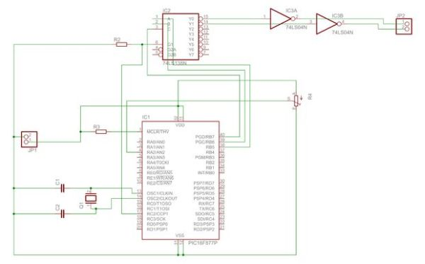 DC motor control with Joystick and PIC16F877A