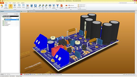 Free PCB design tool includes 3D modeling, crowd-sourced parts database