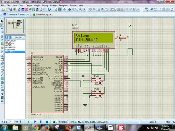 PIC MicroController Volume Adjuster Program