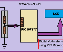 Digital Voltmeter (0-50v) using PIC Microcontroller