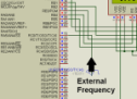 Digital frequency meter by PIC microcontroller using timer 1 (0-9999 Hz)