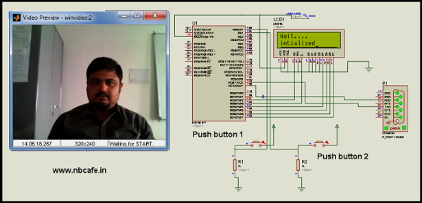 Interfacing Camera with PIC Microcontroller via Matlab GUI schematic