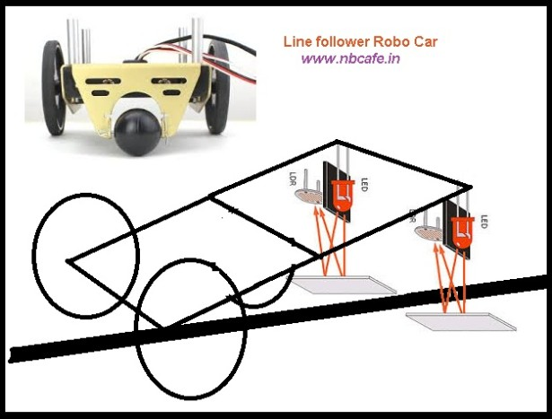 LDR Based Line follower Robot Car using PIC Microcontroller