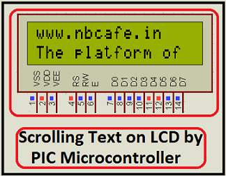 Scrolling Text on LCD by PIC Microcontroller