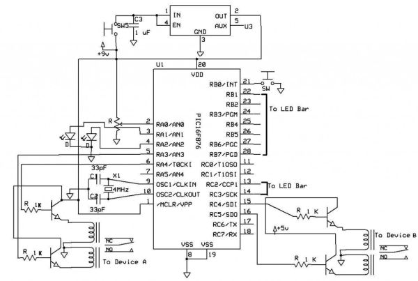 switch relay using pic