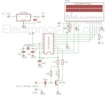 60MHz Frequency Meter / Counter using pic microcontroller