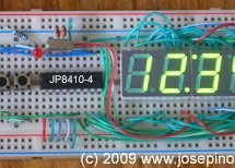 Almost No Parts' 12/24hrs LED Clock using pic microcontroller