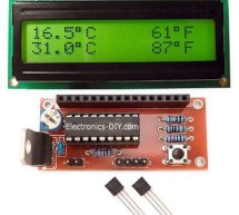 DS18S20 Dual Temperature Meter using pic microcontroller