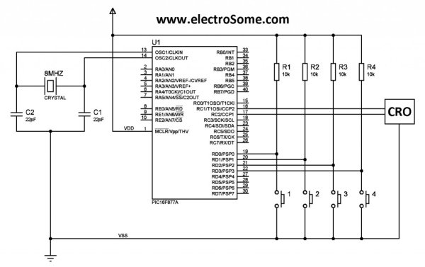 Generating PWM with PIC Microcontroller using CCP Module