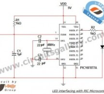 LED Interfacing with PIC Microcontroller: Embedded C program with circuit using pic microcontoller