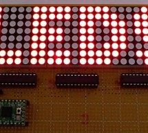 One-chip 11×10 LED matrix. using pic microcontroller