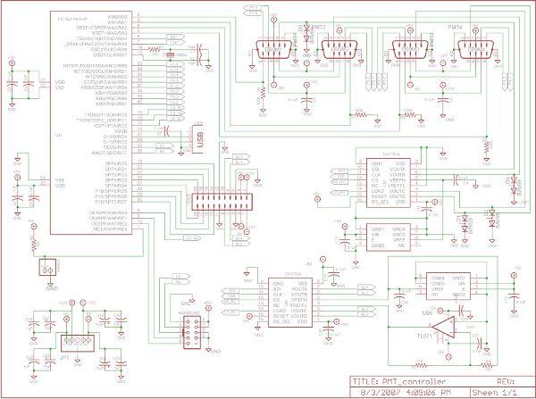 Photomultiplier Tube (PMT) Controller Circuit Board