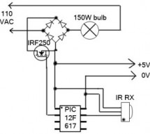 Remote-Control Light Dimmer using pic microcontroller