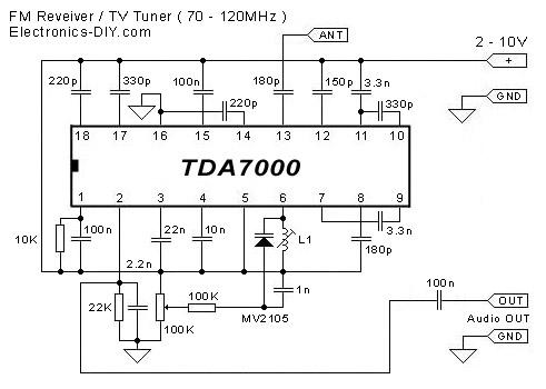 TDA7000 FM Receiver TV Tuner  Aircraft Receiver