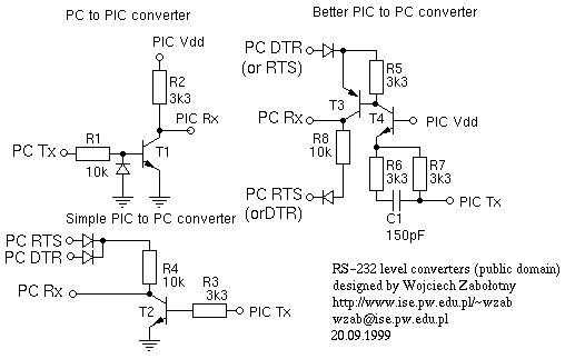 TTL to RS232 Signal Conversion Schemetic