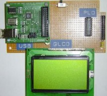 USB & GLCD expansion board for 8051SBC using pic microcontroller