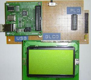 USB & GLCD expansion board for 8051SBC