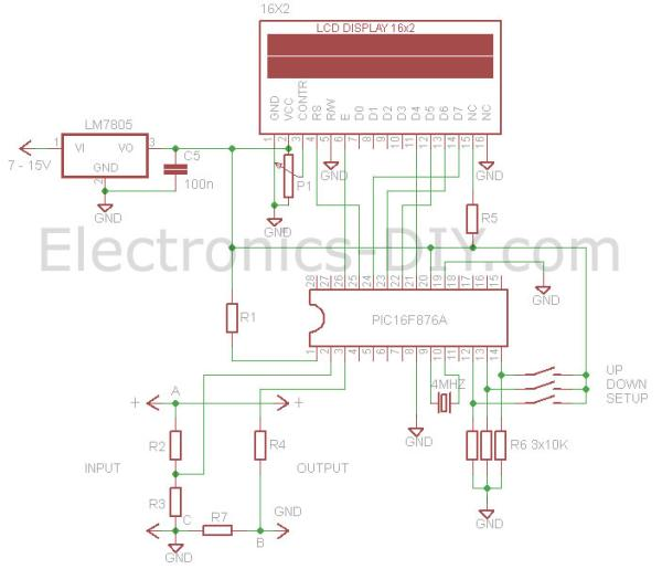 The design of a voltmeter ammeter using pic microcontroller