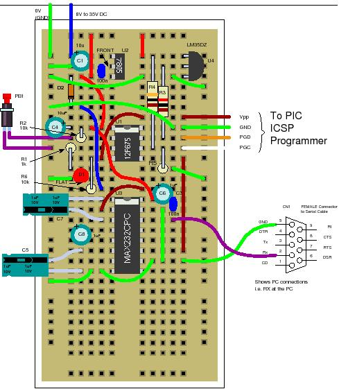 12F675 Tutorial 5 A Temperature  data logger using PIC EEPROM.