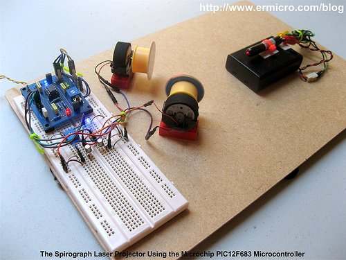 Building Your Own Simple Laser Projector Using The
