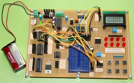 How to interface MAXIM's DS1868 digital potentiometer with a PIC microcontroller