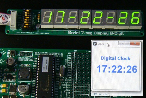 "MikroElektronika's ""Ready for PIC"" board talks to ""Processing"""