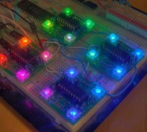 PIC16F628 4 RGB LED PWM Controller using pic microcontroller