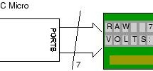 Schematics and C code for a 0-5V PIC LCD Volt Meter. using pic microcontoller
